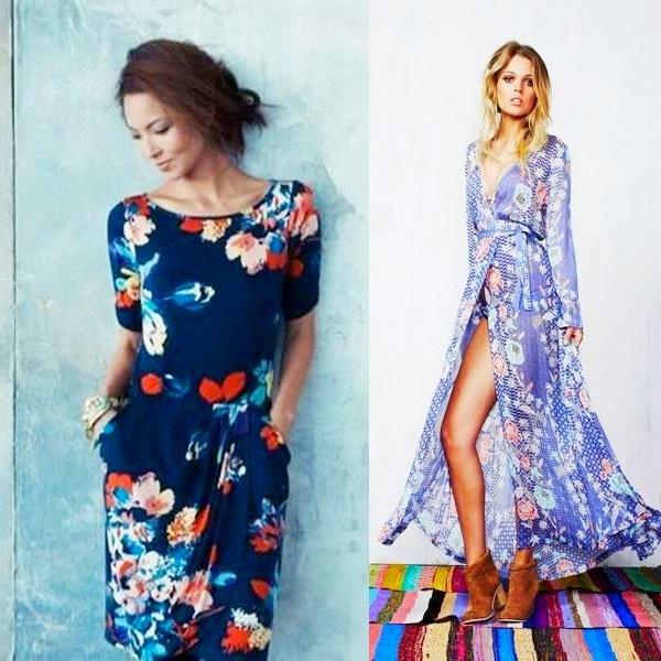c59a60fcb6609f Модні квіткові сукні 2017 року з принтом на фото: довгі, і короткі ...