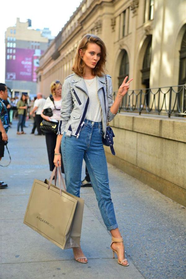 З чим носити джинси з високою талією  45 фото 540c33998c798