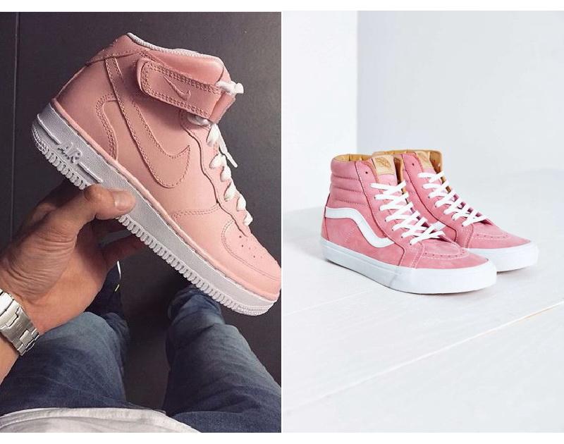 Модні жіночі рожеві кросівки  як підібрати ефектний лук 71f0ff37259bf