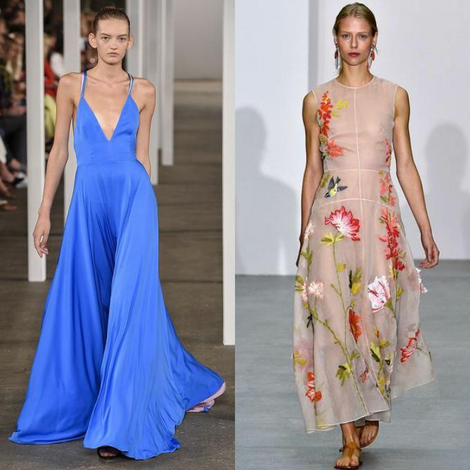 Модные летние платья 2017 новинки для женщин 50 лет
