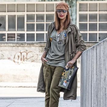 53f195624ff9f3 Стиль мілітарі в жіночому одязі: фото та особливості направлення