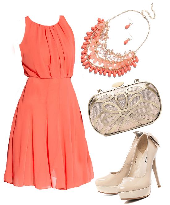Что одеть к персиковым туфлям