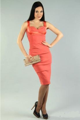 e7fa01f8009373 Коралове плаття - модний образ: відтінки, аксесуари, взуття, цікаві ...