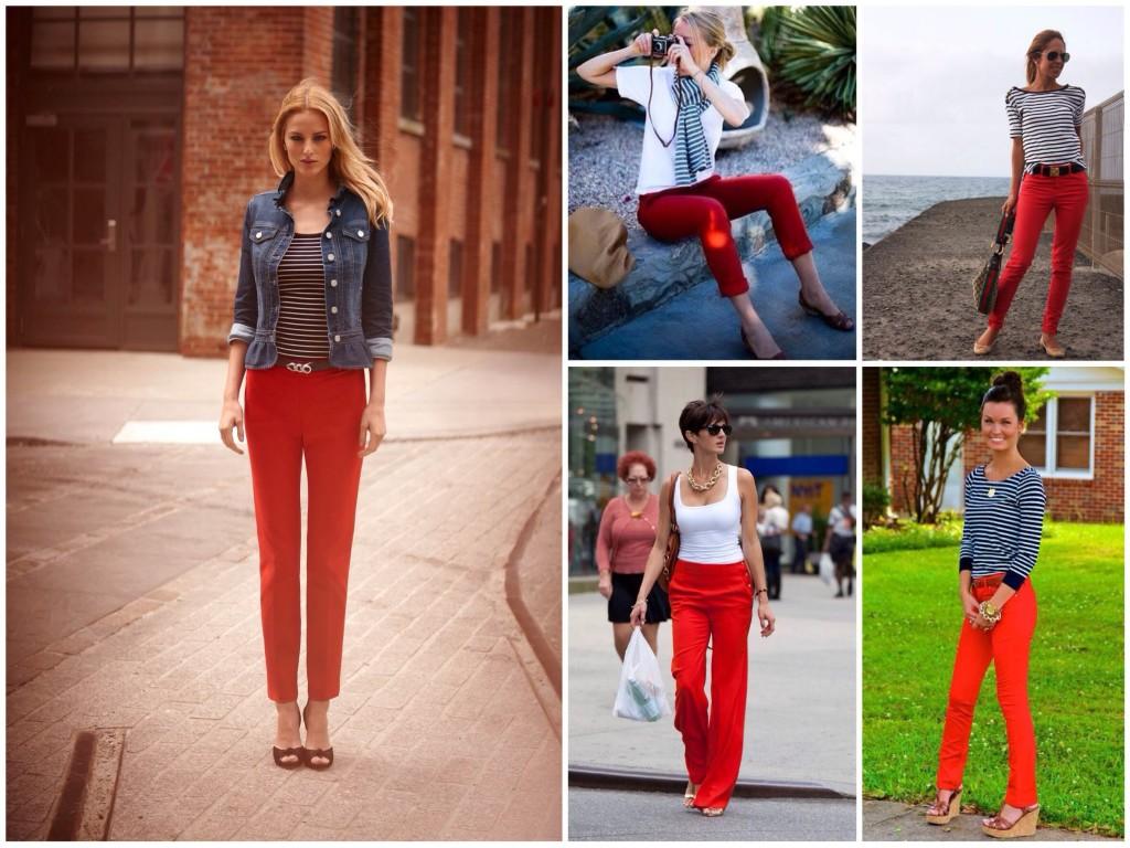 Ансамблі з червоними штанцями