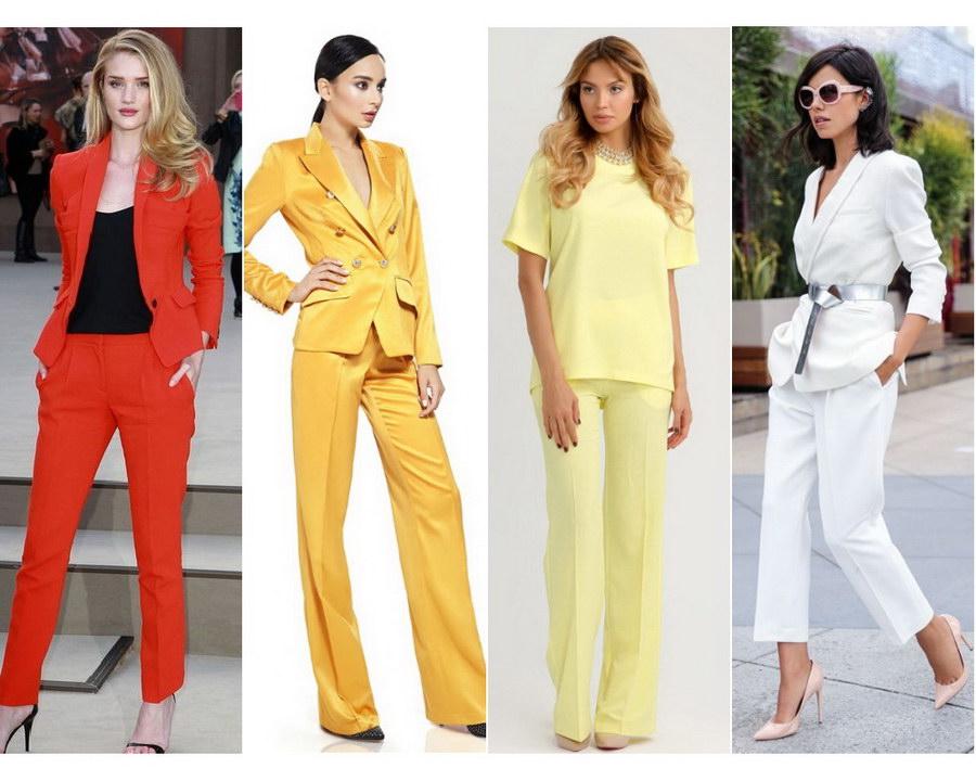 Модні жіночі брючні костюми  образи та стилі (фото) 0571b8d7682ad