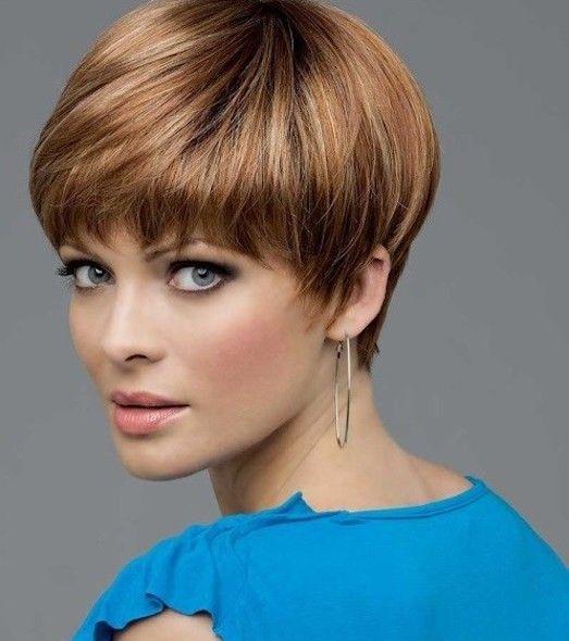 Фото стрижек на короткие волосы женские для круглого лица