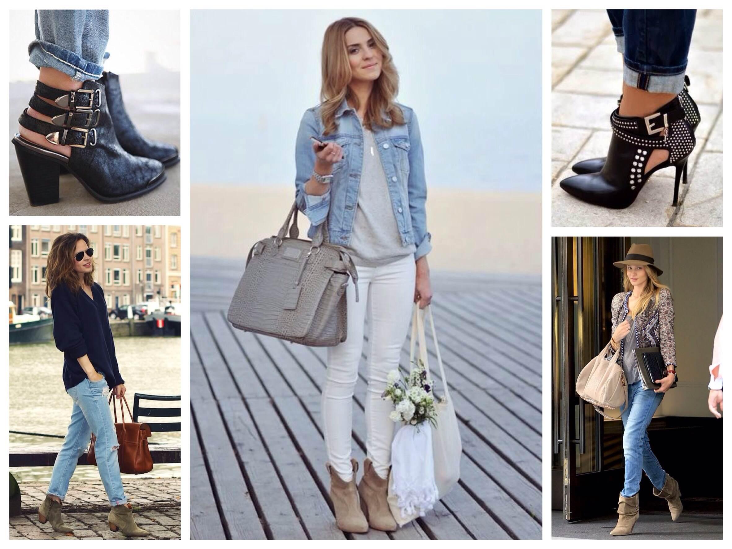 Ботильйони і черевики для джинсових комплектів cf4aba77d8c9f