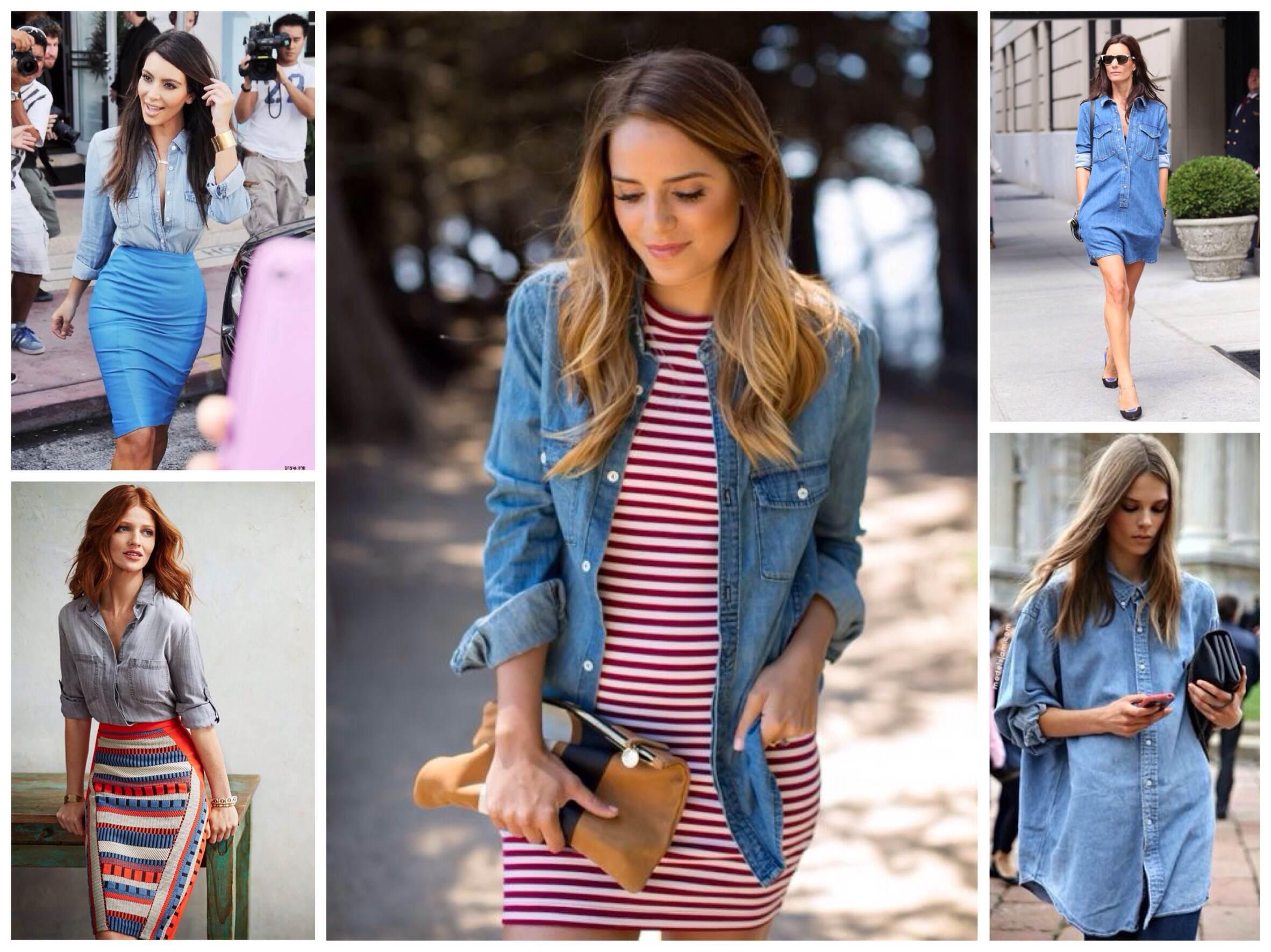 З чим носити джинсову сорочку  модні луки та поради 3f0e3c861e342