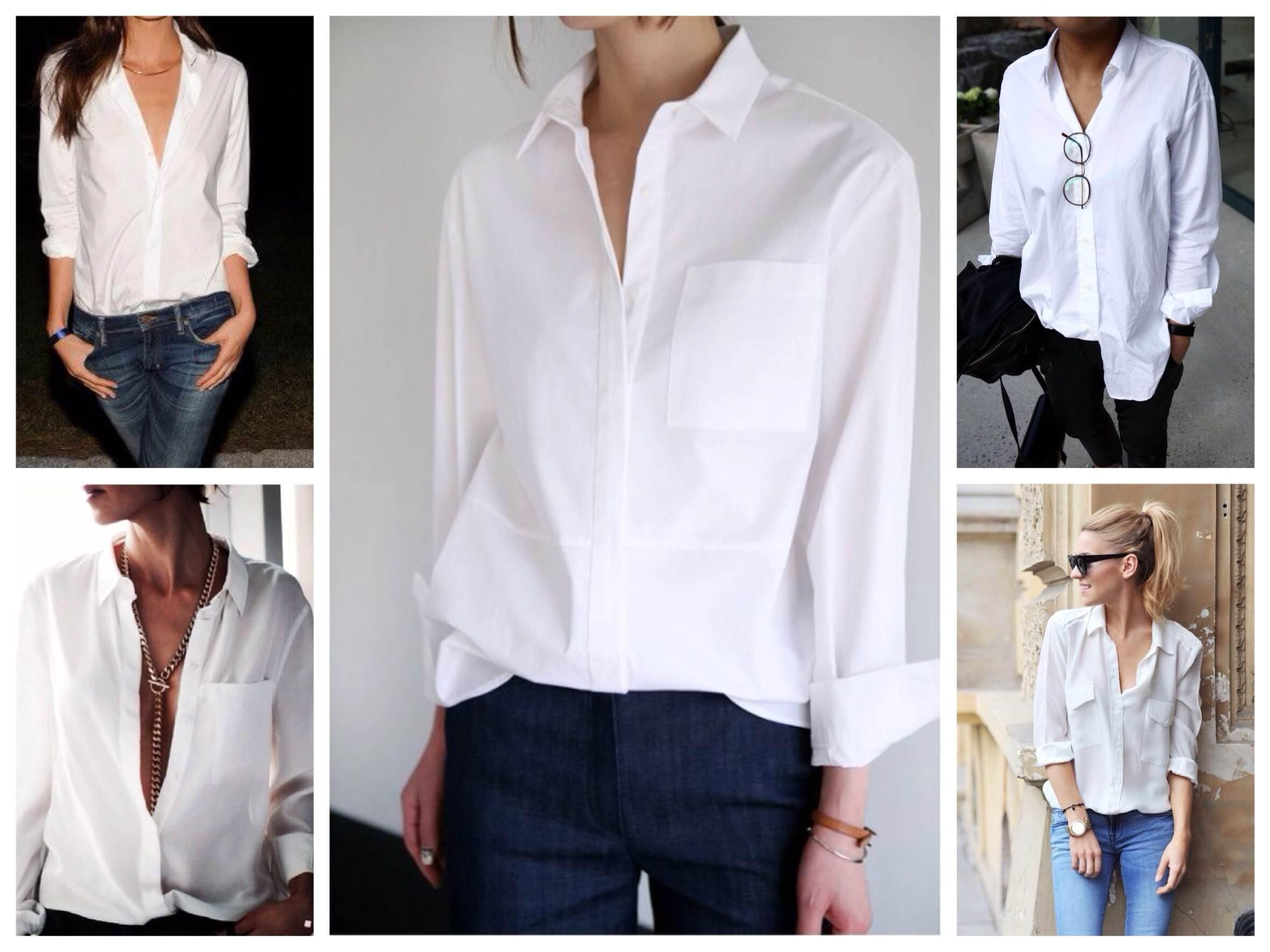 Блузка Типа Мужской Рубашки
