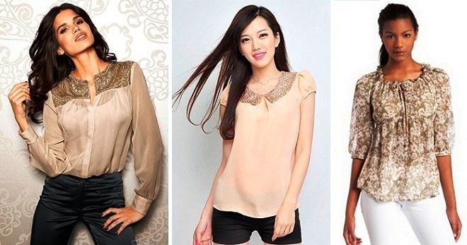 Модні жіночі блузки з шифону – з коротким і довгим рукавом d6d0f978a0ca2