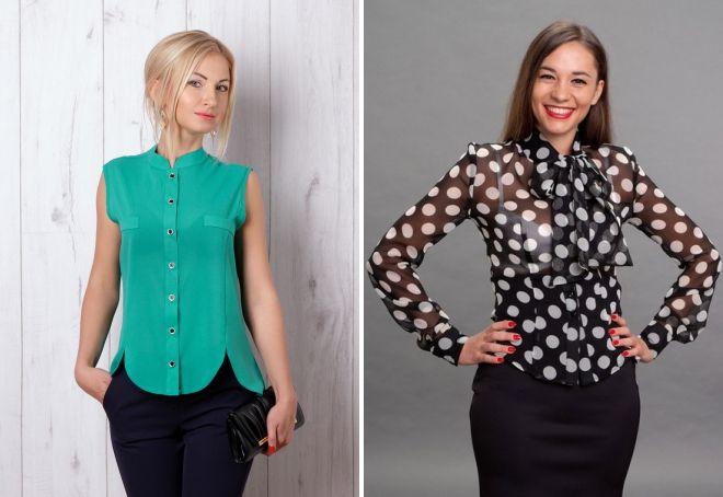 Модні жіночі блузки з шифону – з коротким і довгим рукавом f56593e853061