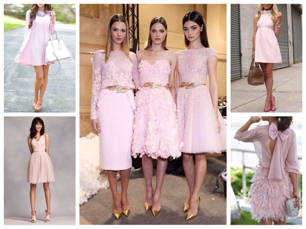 Бледно розовое платье с чем носить фото