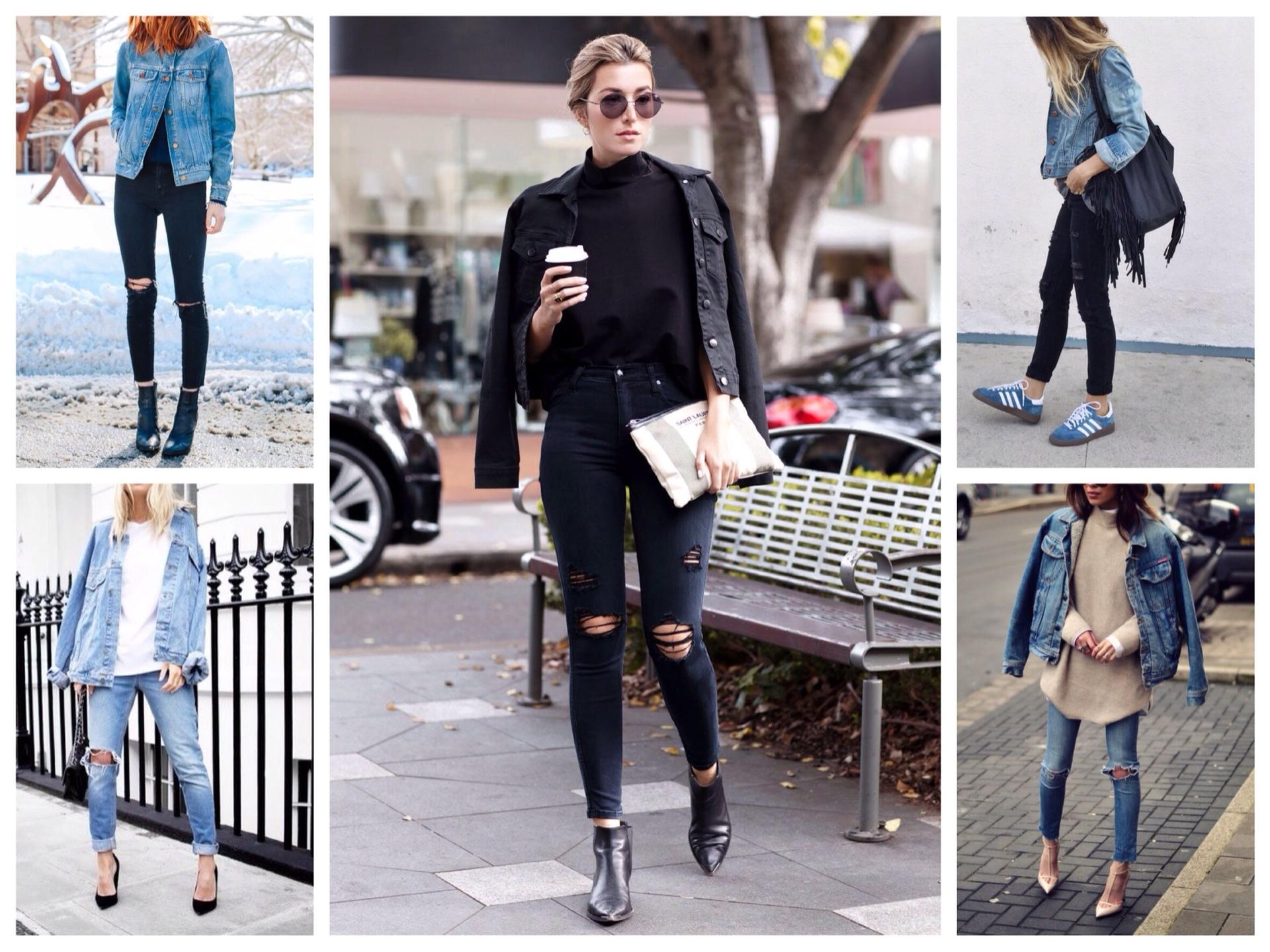 З чим носити джинсову куртку  фото та рекомендації 25f038de00330