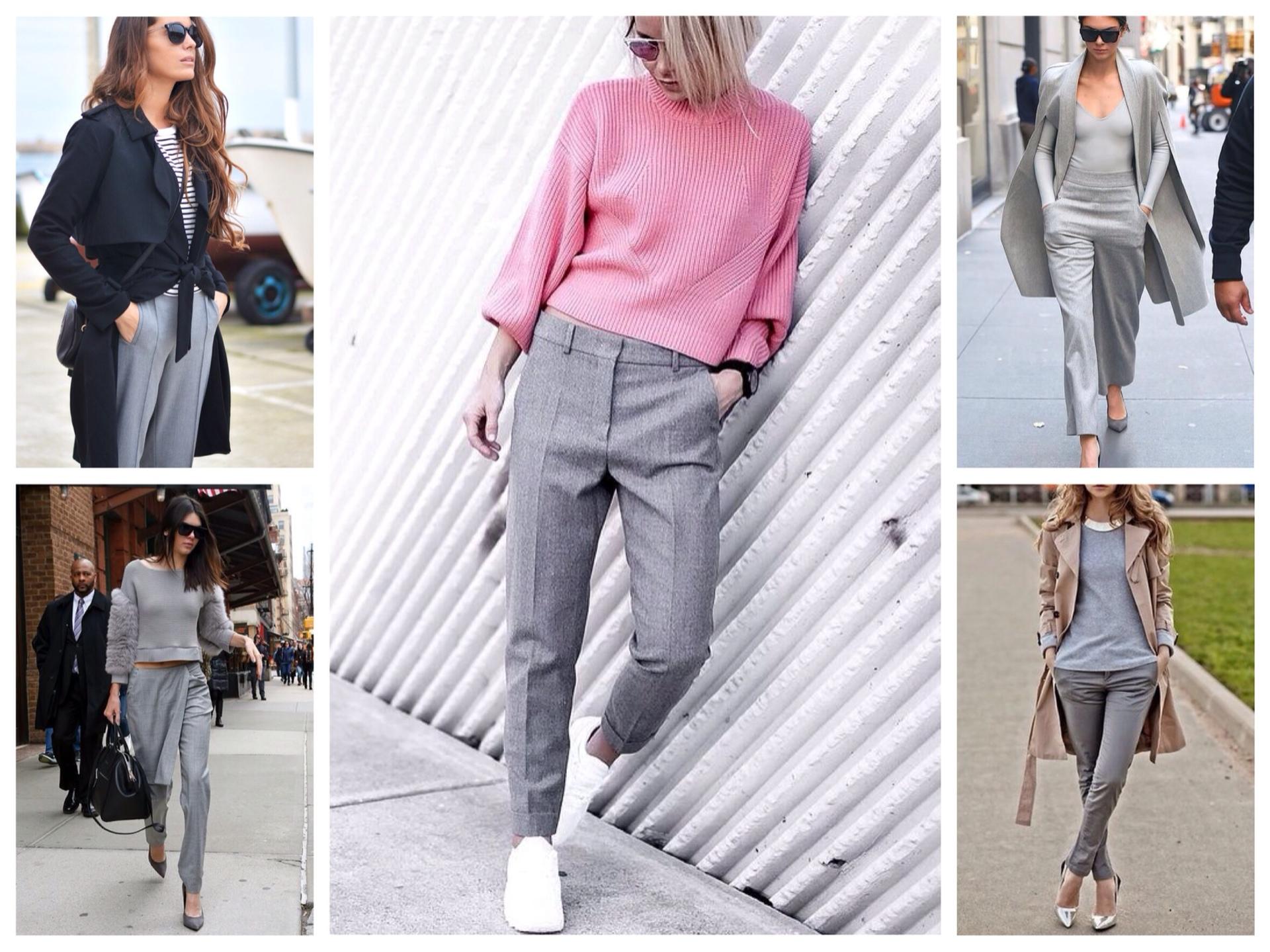 З чим носити сірі джинси і штани для жінок  фото dc35747256ab3