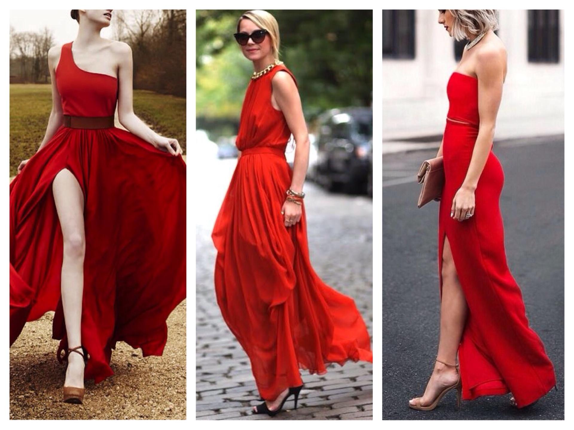 З чим носити червоне плаття  фото 472c45423a210