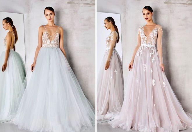 Найбільш стильні і модні весільні сукні – актуальні кольори і тенденції 9eae086bc9705