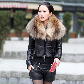Зимові шкіряні куртки з натуральним хутром  фото хутряних моделей 86fa809fe921f