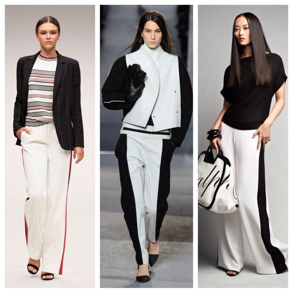 Як і з чим носити штани з лампасами  модні тенденції 07817bb34c5b6