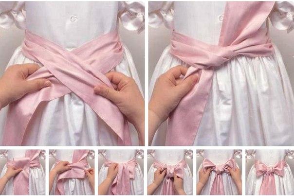 Как сшить красивый пояс для платья 780