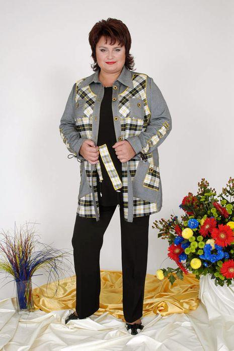 Костюми для повних жінок (75 фото)  вечірні костюми великих розмірів fdefb7fc307ed