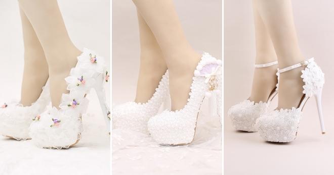 Красиве весільне взуття для нареченої – босоніжки ee301b5c65078