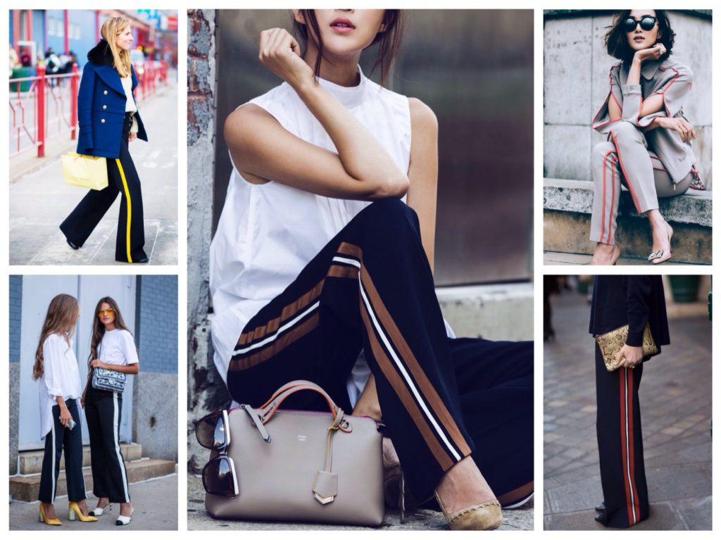 Як і з чим носити штани з лампасами  модні тенденції f6782c52becb9