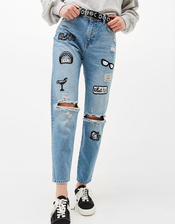 Модні джинси (100+ фото)  Осінь - Зима 2017 - 2018 роки на фото 0f4f50513e537