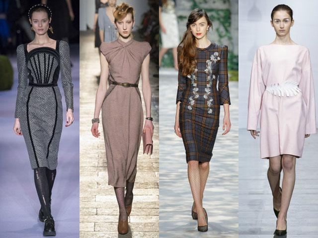 Модное деловое платье 2018-2018