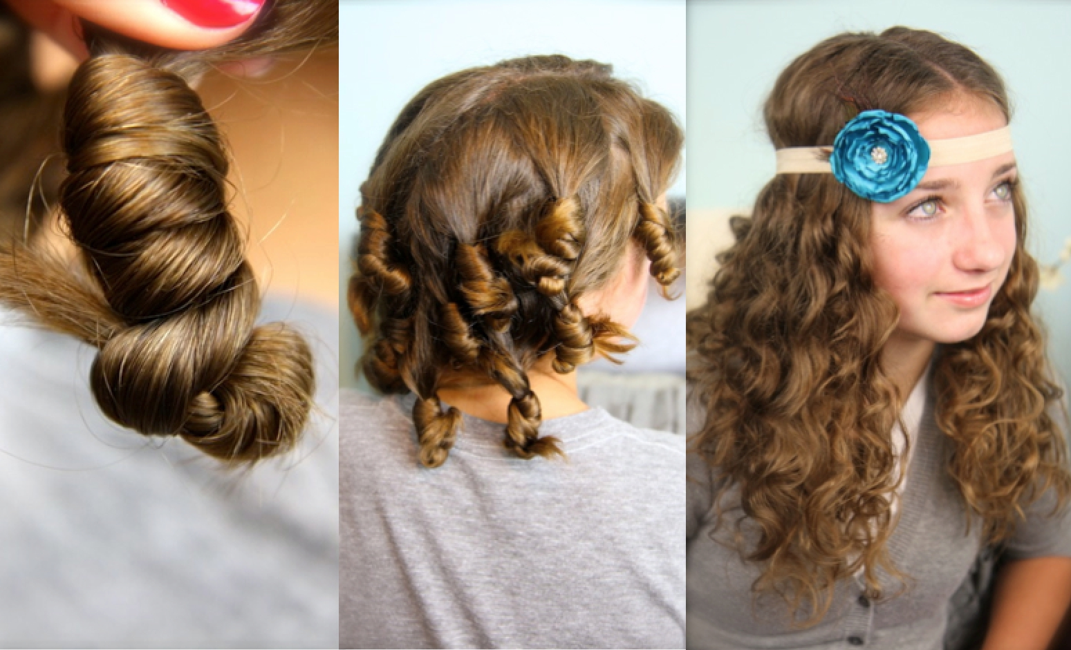 Прически с папильотками на средние волосы