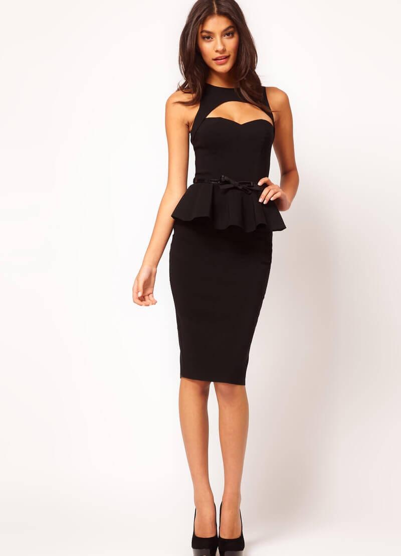 Купить Платье С Баской На Талии