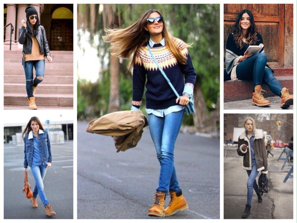 З чим носити черевики тімберленди  ідеї комплектів d59d79038e70f