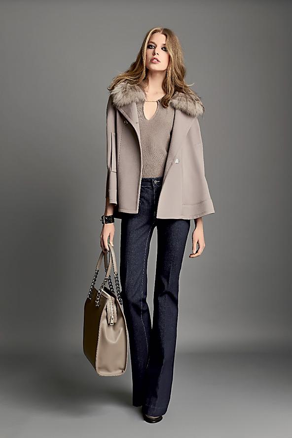 Коротке пальто з коротким рукавом (51 фото)  з чим носити 56d0bb9c1bec7