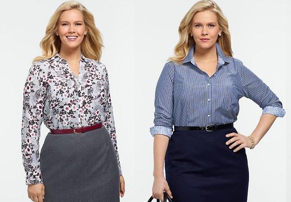 Жіночі сорочки та блузки (41 фото)  моделі для повних bf90a97ae32d1