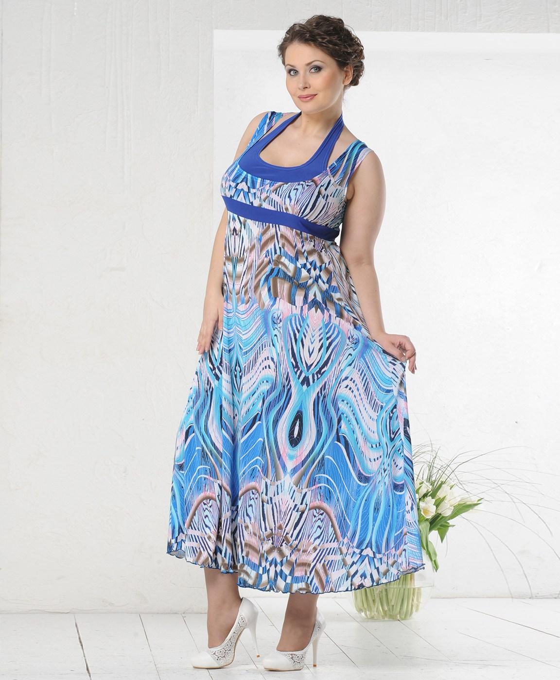 Літні сукні-разлетайки для повних  безпрограшний варіант 2018 19cc5a52d1d0d