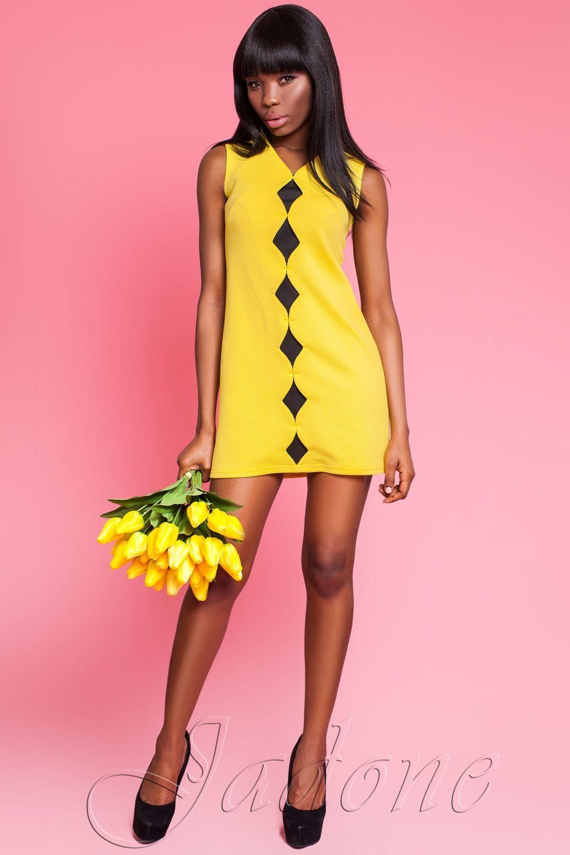 Що стосується поєднання жовтої сукні з чорним кольором 8244654004585